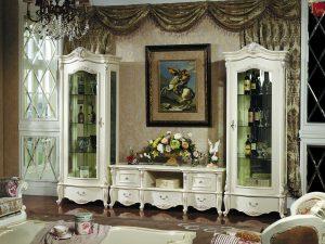 Best Seller Bufet TV Mewah Ukiran Jepara Classic Luxury ARF-0044