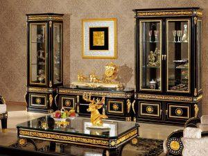 Black Edition Bufet TV Mewah Modern Living Room Design ARF-0046