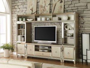 Bufet TV Minimalis Modern Golden Champagne Furniture Jepara Terbaru ARF-0021