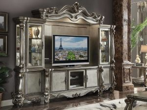 Bufet TV Ukiran Klasik Gaya Italian Empire Duco Golden Glossy ARF-0001
