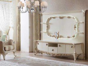 Harga Bufet TV Putih Duco Luxury Classic Jepara ARF-0003